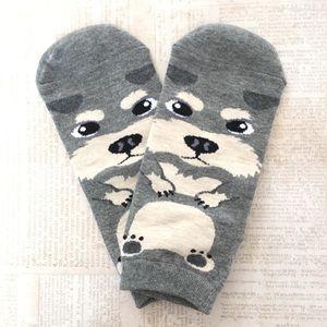 Accessories - 🦋Gray Schnauzer Dog Print Ankle Socks🦋
